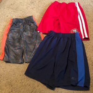 Boy's sports shorts lot of 3 size 8